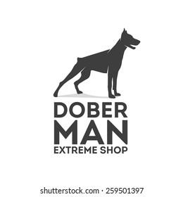 Doberman vector logo