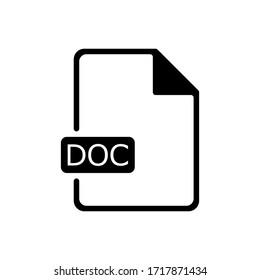 Doc document outline icon. Symbol, logo illustration for mobile concept and web design.