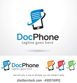 Doc Phone Logo Template Design Vector