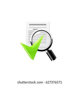 Doc search icon. Vector