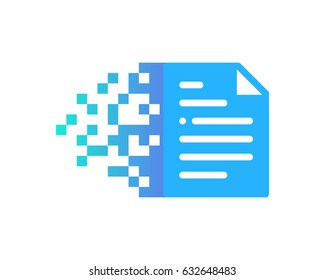 Docs Digital Pixel Paper Icon Logo Design Element