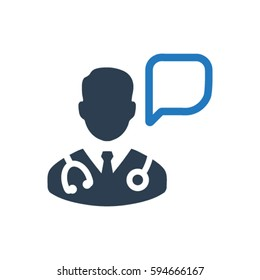 Doctor advice icon