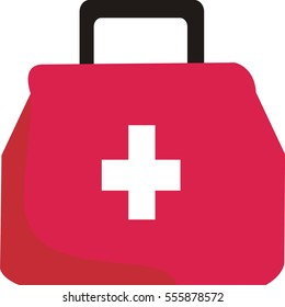 doctor bag flat icon for medical