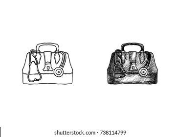 Doctor Bag Hand Drawn