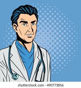 Doctor cartoon with uniform