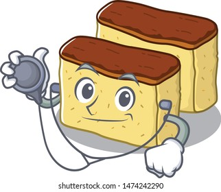 Doctor castella cake isolated in the cartoon