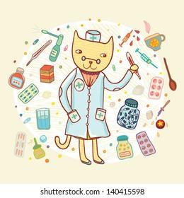 doctor cat card