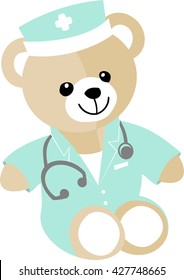 Doctor for children A teddy bear in a suit of doctor or nurse to reassure children who have suffered care