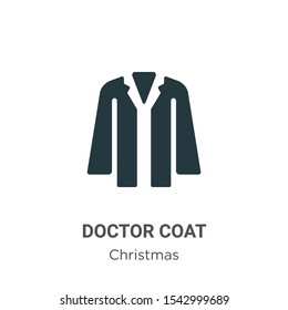 Doctor coat vector icon on white background. Flat vector doctor coat icon symbol sign from modern christmas collection for mobile concept and web apps design.