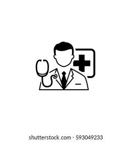 Doctor Consultation Icon. Flat Design Isolated Illustration.