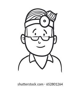 Doctor draw cartoon
