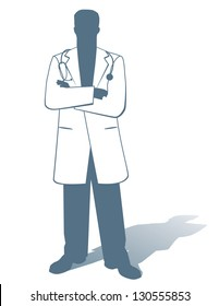 Doctor. EPS 8 vector, grouped for easy editing. No open shapes or paths.