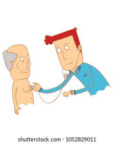 doctor examine his patient
