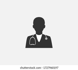 Doctor, health, medical icon. Vector illustration, flat design.