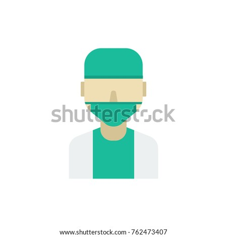Doctor Icon Flat Isolated Symbol On Stock Vector Royalty Free