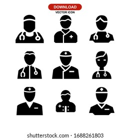 doctor icon or logo isolated sign symbol vector illustration - Collection of high quality black style vector icons
