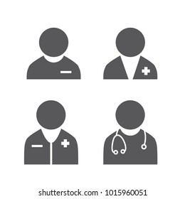 Doctor Icon Set - Some   Stethoscope and some with pocket