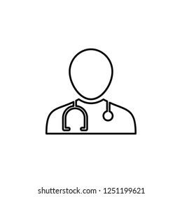 doctor icon. Simple outline vector of Medecine set for UI and UX, website or mobile application