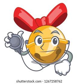 Doctor jingle bells christmas isolated on mascot