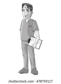 Doctor man cartoon design