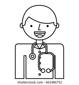 doctor man professional icon vector isolated design