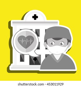 doctor medical icon vector illustration eps 10 isolated, vector illustration