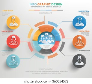 Doctor, medical info graphic design,vector
