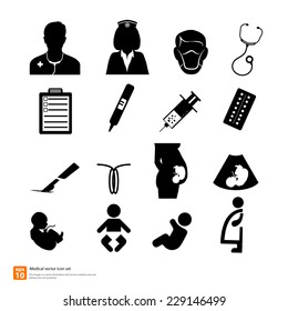 Doctor medical Obstetrics And Gynecology icon vector