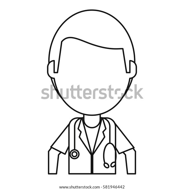 doctor medical  stethoscope thin line