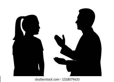 Doctor and patient silhouette vector
