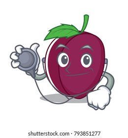 Doctor plum character cartoon style