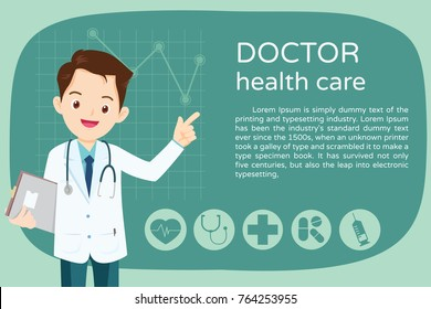 Doctor presentation for Banner,layout template,cover,ad.,poster