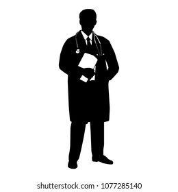 Doctor Silhouette. Vector