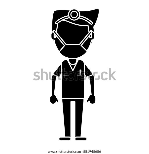 doctor specialist mask medical pictogram