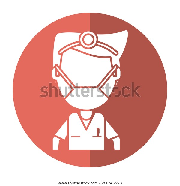 doctor specialist mask medical shadow