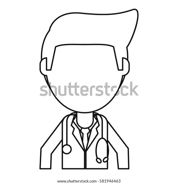 doctor staff medical hospital thin line