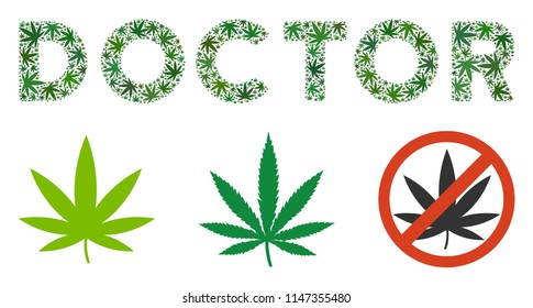 Join Us Text Mosaic Cannabis Leaves Stock Vector Royalty Free