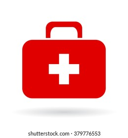 Doctor toolkit icon isolated on white background