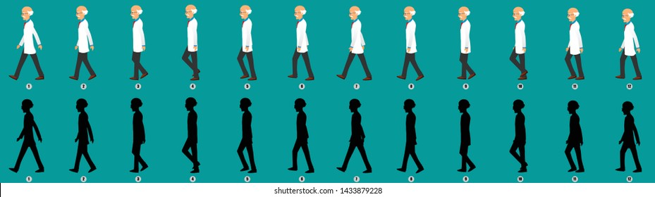 Doctor Walk cycle animation sequence