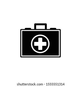 Doctor's bag icon, illustration isolated vector sign symbol - Vector