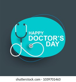 Doctors day greeting cad design with stethoscope