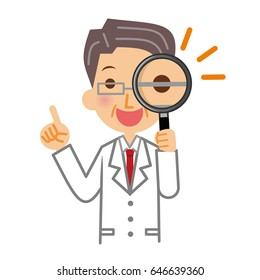 Doctors and magnifying glasses.