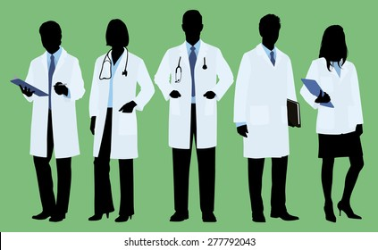 Doctors / Physicians in Silhouette