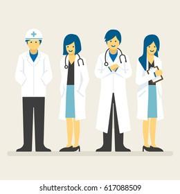 Doctors team, Medical staff vector illustration