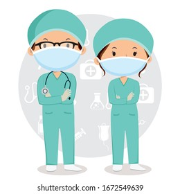Doctors are wearing surgical mask
