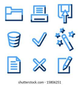 Document 2 icons, blue contour series