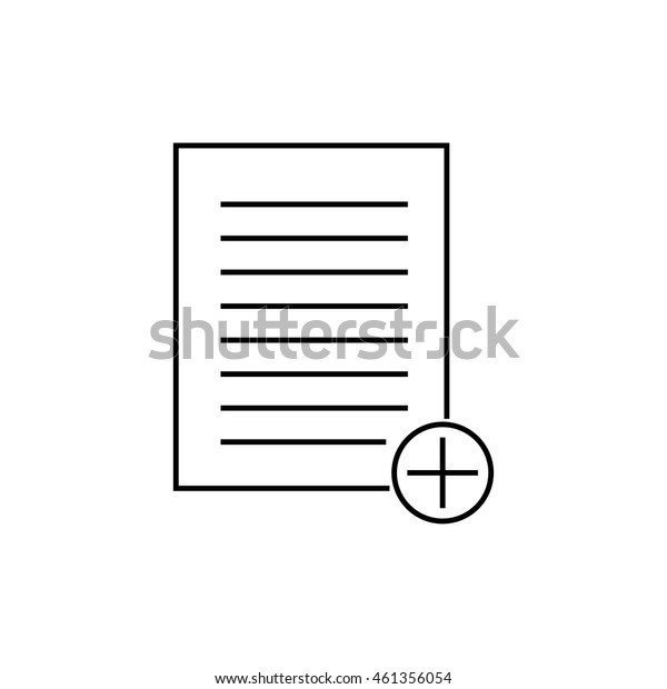 Document add outline icon illustration isolated vector sign symbol