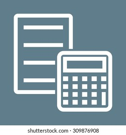 Document, calculation, sheet, icon vector image.Can also be used for banking, finance, business. Suitable for web apps, mobile apps and print media.