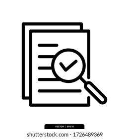 Document Check Icon Vector Illustration Logo Template