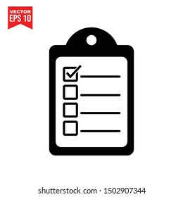 document with check mark icon template black color editable. Check list symbol vector sign isolated on white background. Simple logo vector illustration for graphic and web design.